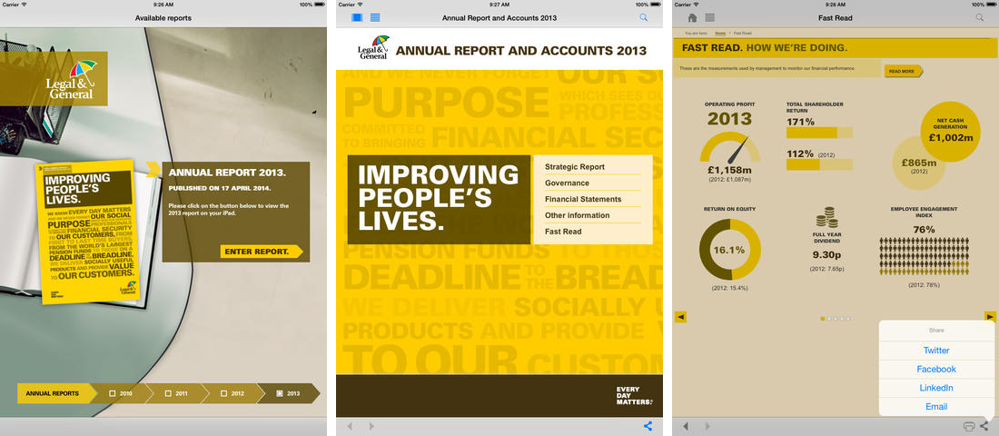 Legal & General - Annual report app