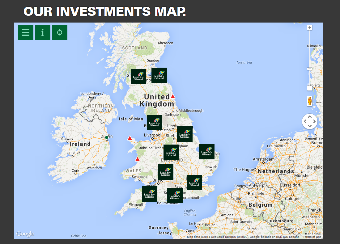 Legal & General Investments map