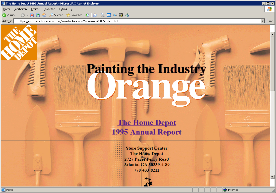 Home Depot - Online Annual Report 1995