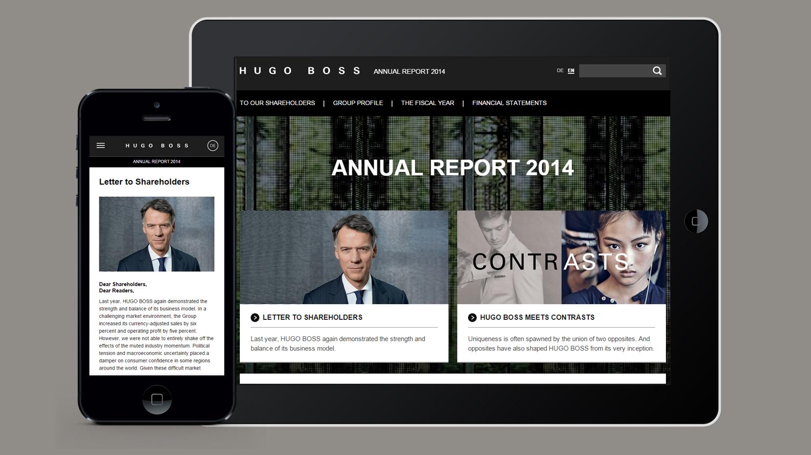 HUGO BOSS Online-Geschäftsbericht