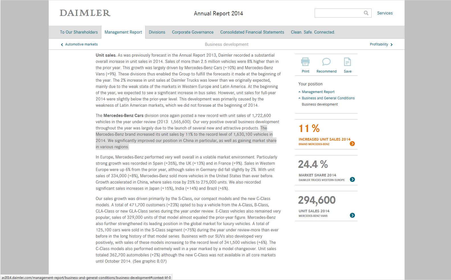 Daimler Annual Report 2014