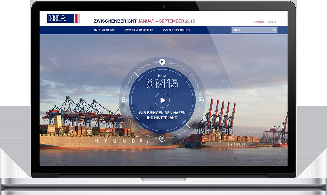 Beispiel für einen Online-Quartalsbericht