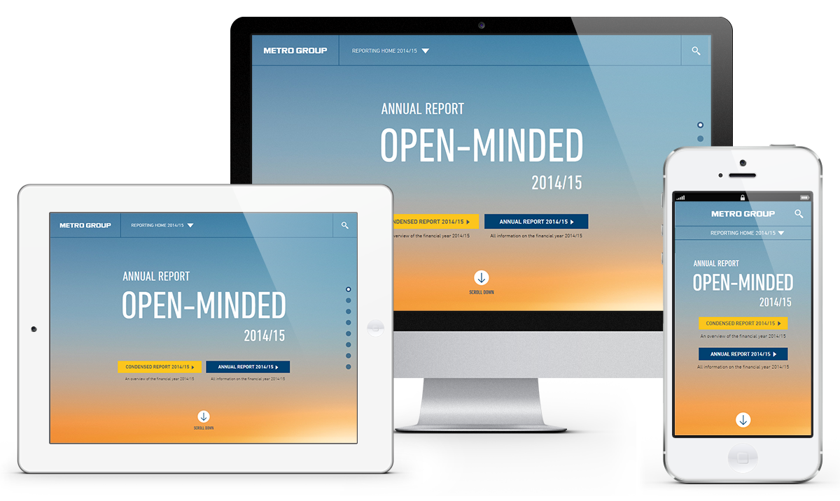 Landing Page on different devices