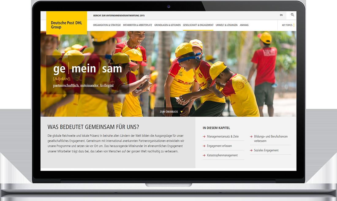 Deutsche Post - Online-Nachhaltigkeitsbericht 2015