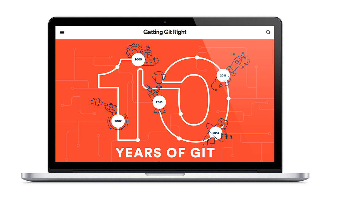 "Atlassian article ""10 years of git"""