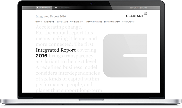 Clariant Online Annual Report 2016