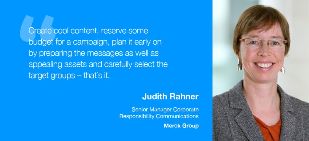 Judith Rahner, Senior Manager Corporate Responsibility Communications