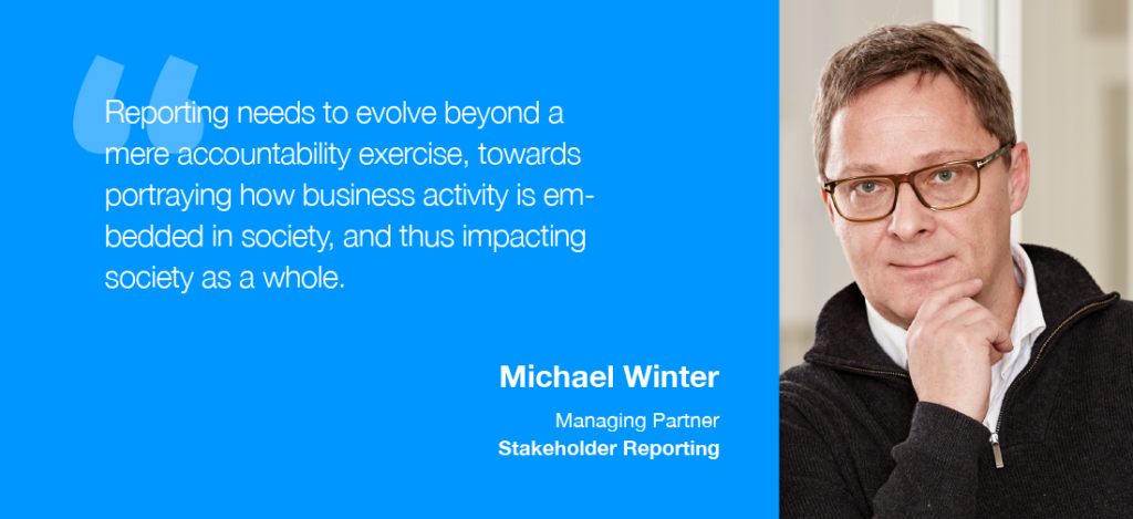 Michael Winter, Managing Partner at Stakeholder Reporting