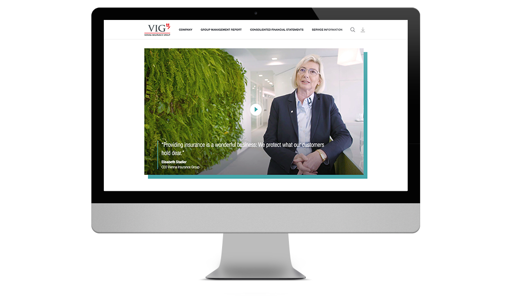 Vienna Insurance Group, CEO video, online Annual Report 2020